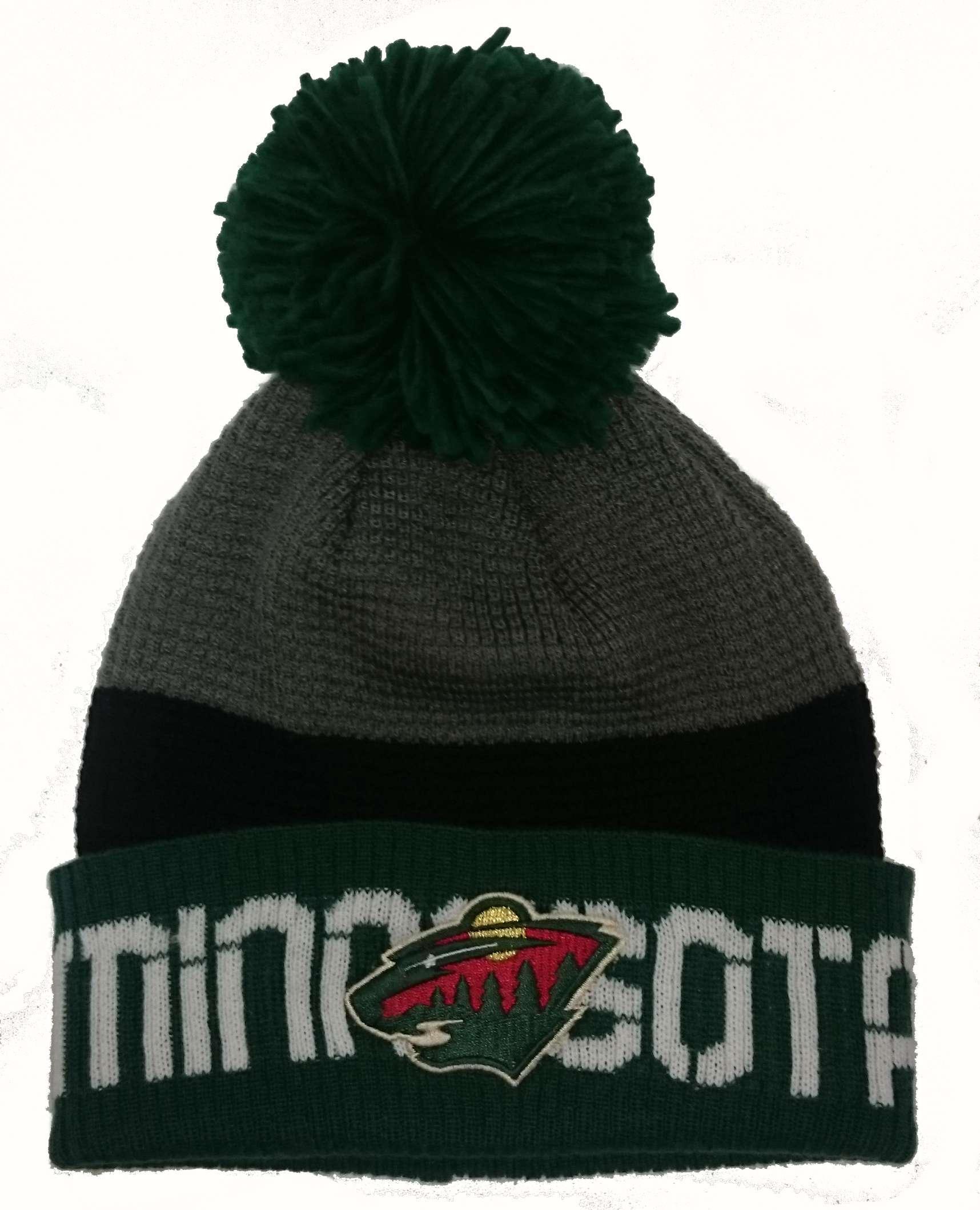 Zimní čepice (kulich) Reebok Team Pom Knit - Minnesota Wild ... 19dfd06956
